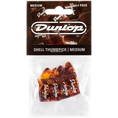 Dunlop Shell Thumbpicks Medium, Player's Pack of 4