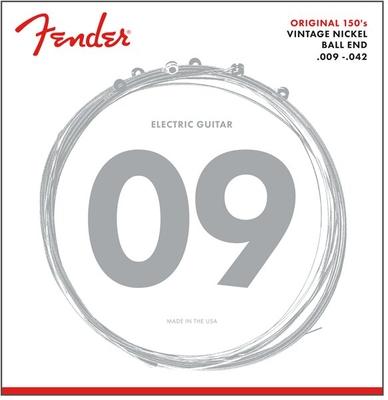 Fender Original 150 Guitar Strings, Pure Nickel Wound .009-.042