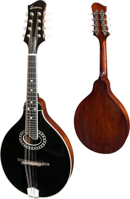 Eastman MD404 Black A-Style With Oval Hole