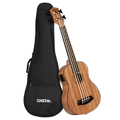 CASCHA VERLAG Ukulele Bass Mahogany Pack