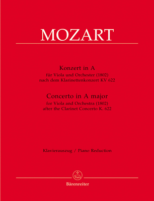 Concerto for Viola and Orchestra A major for Viola and Orchestra / Wolfgang Amadeus Mozart / Bärenreiter