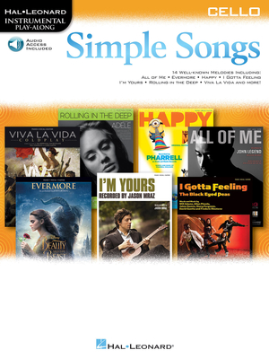 Instrumental Play-Along / Simple Songs – Cello Instrumental Play-Along /  / Hal Leonard