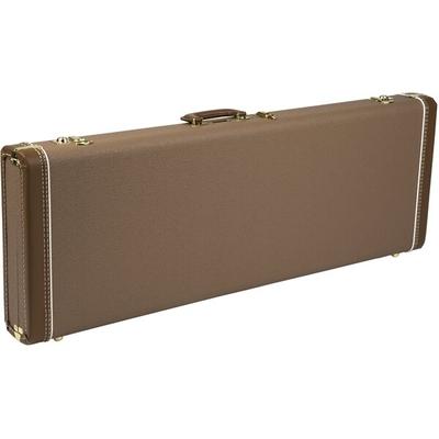 Fender tui G&G Deluxe Strat / Tele Hardshell marron avec intérieur en peluche dorée