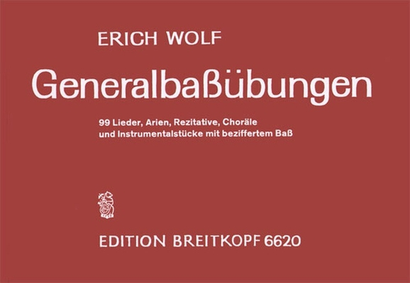 Generalbassubungen / Erich Wolf / Breitkopf