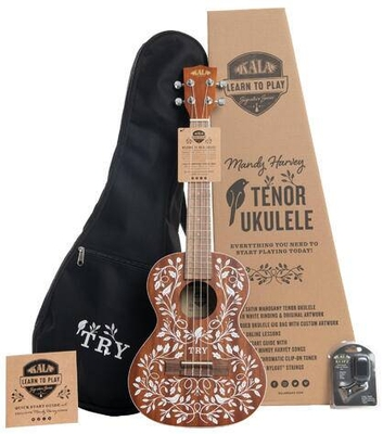 Kala Mandy Harvey Learn To Play Signature Series, Tenor Ukulele Starter Kit