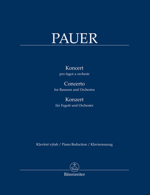 Concerto For Bassoon and Orchestra / Jiri Pauer / Bärenreiter