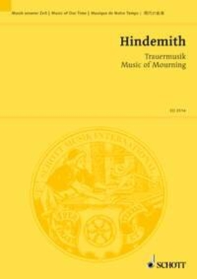 Trauermusik Music of Mourning / Paul Hindemith / Schott