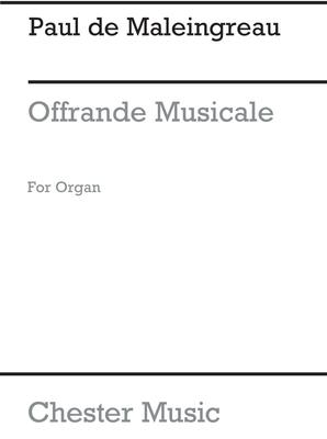 Offrande Musicale En Sol Op.18 No.2 / Paul de Maleingreau / Chester Music