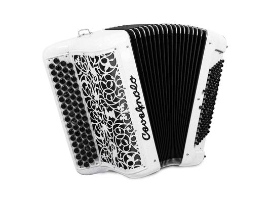 Cavagnolo Mega Junior 2 voix, 4 rangs, 96 basses  accordage musette atténué