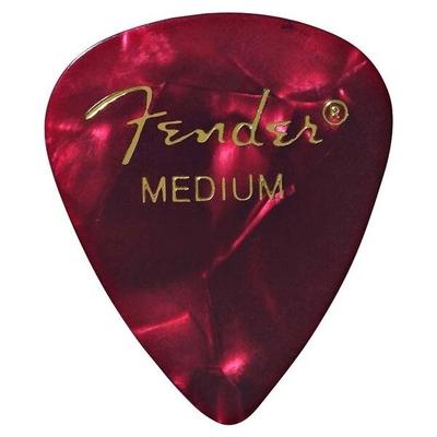 Fender 351 Shape Red Moto Medium sachet de 12 pièces