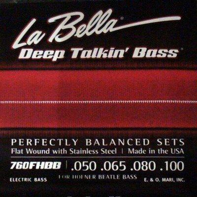 La Bella Electrique Basse »Deep Talkin – Höfner Beatle Bass» .050-.100 Flatwound Inox