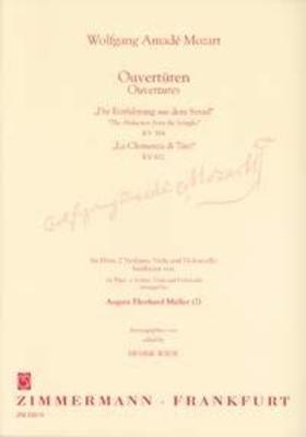 Ouvertüren Zu Die Entführung Aus Dem Serail Kv 384 und Titus Kv 621 / Wolfgang Amadeus Mozart / Henrik Wiese / Zimmermann