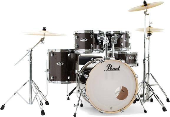 Pearl EXX725SBR/C739 10x7TT, 12x8TT, 16x16FT, 22x18BD(BB), 14×5.5SD, TH-70I(x2)+HWP-830+Sabian cymbals night sky sparkle