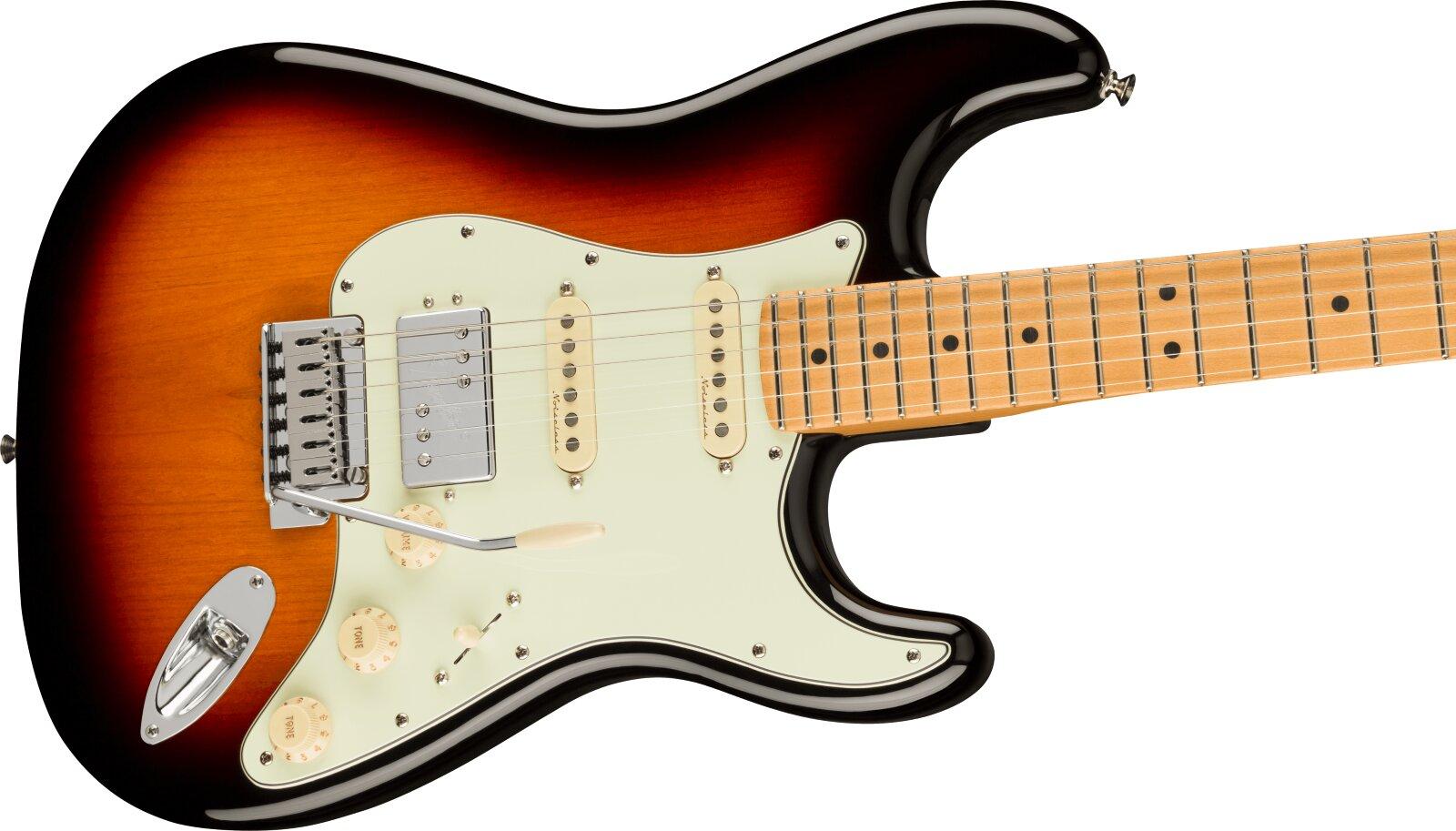Fender Player Plus Stratocaster HSS, Maple Fingerboard, 3-Color Sunburst : photo 3