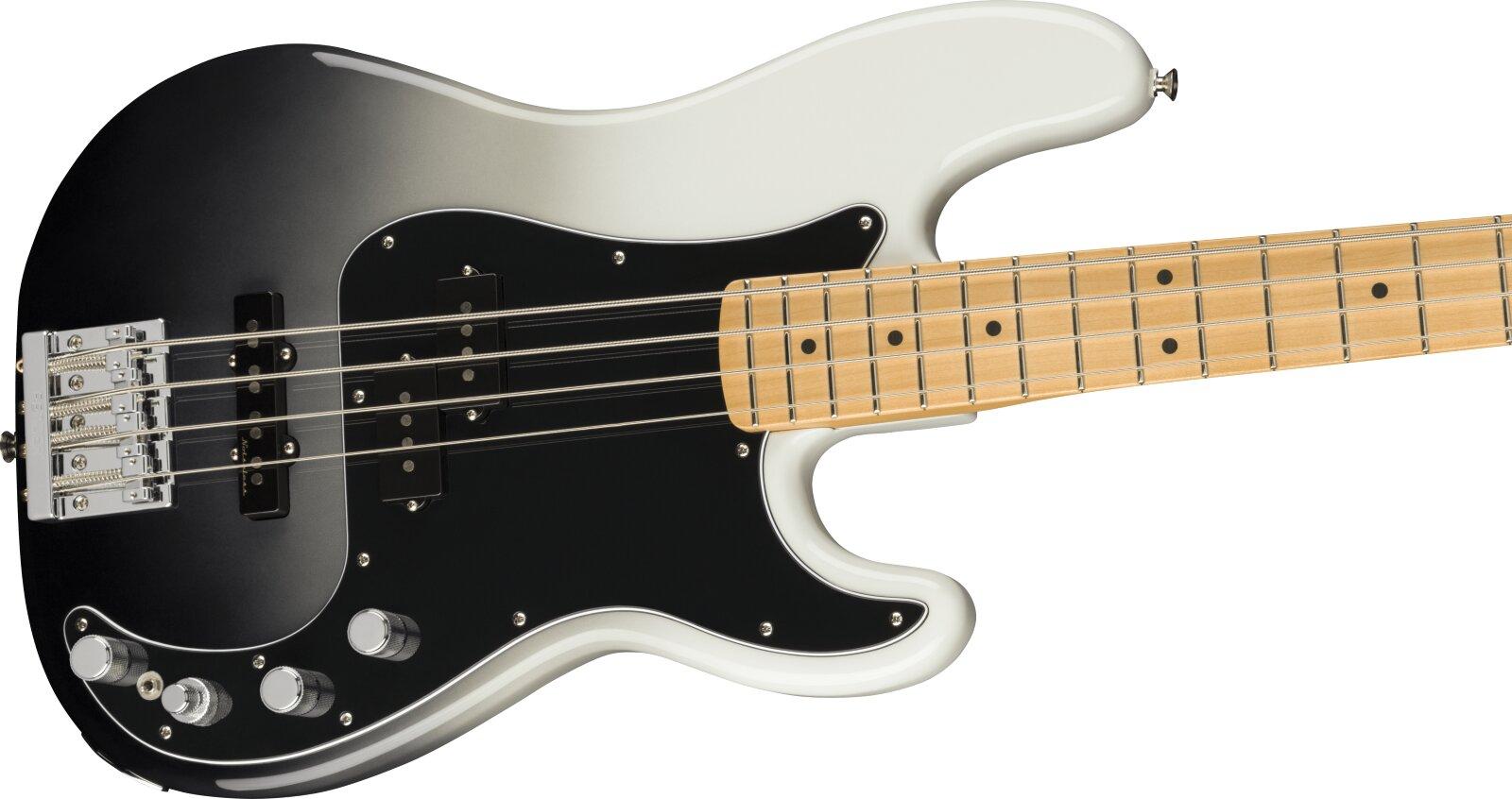 Fender Player Plus Precision Bass, Maple Fingerboard, Silver Smoke : photo 3