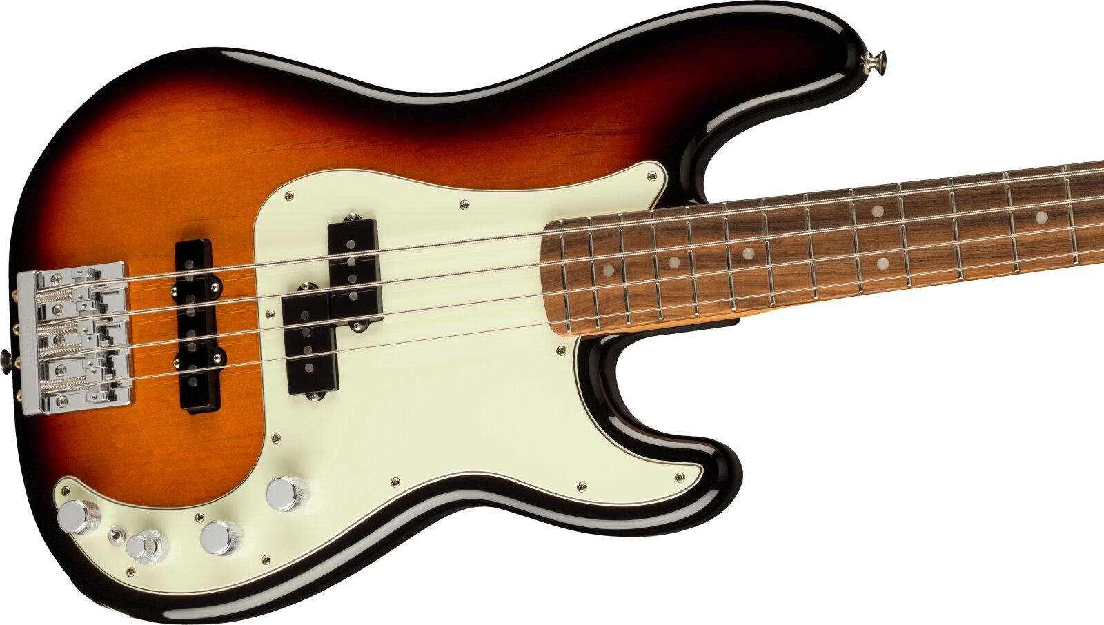 Fender Player Plus Precision Bass Pau Ferro Fingerboard, 3-Color Sunburst : photo 3