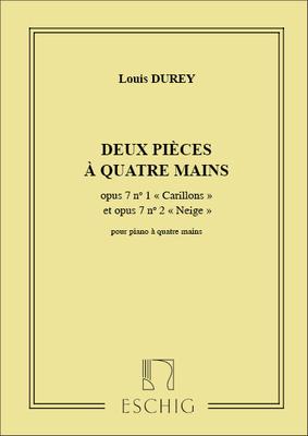 Deux Pieces A Quatre Mains / Louis Durey / Eschig