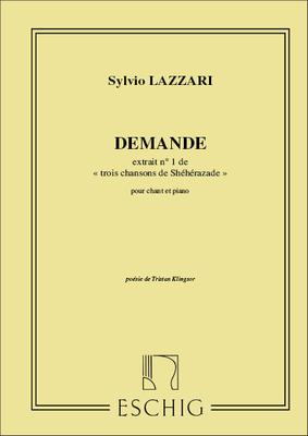 Demande Pour Chant Et Piano / Sylvio Lazzari / Eschig