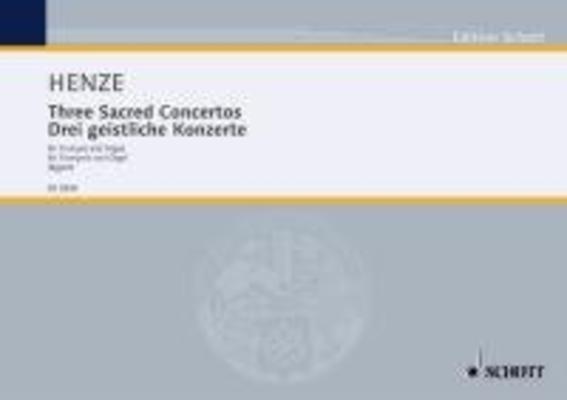 Three Sacred Concertos for trumpet and organ / Hans Werner Henze / Schott