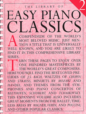 The Library Of / Library Of Easy Piano Classics 2 /  / Music Sales