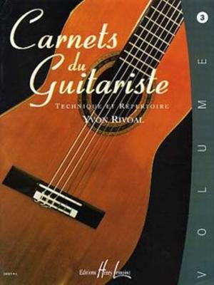 Carnets du guitariste Vol.3 / Yvon Rivoal / Henry Lemoine