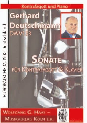 Sonate für Kontrafagott & Klavier / Gerhard Deutschmann / Wolfgang G. Haas Musikverlag Köln