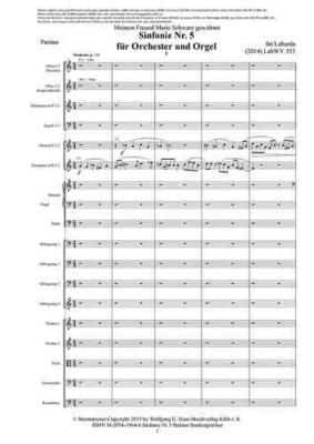 Sinfonie Nr. 5 für Orchester und Orgel, Studienpartitur / J. Laburda / Wolfgang G. Haas Musikverlag Köln