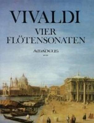Vier Sonaten (RV 48, 49, 50, 51) für Flöte und Bc. Sonaten in C-dur, g-moll, d-moll, e-moll / Antonio Vivaldi / Kurt Meier / Amadeus