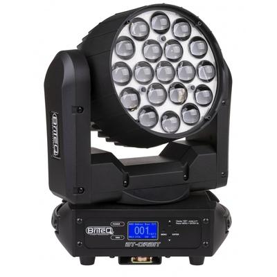 Briteq Lighting BT-ORBIT – Led Moving wash 19x15W RGBW ring control 10-60deg