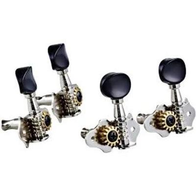Grover Mécaniques ukulele bouton noir