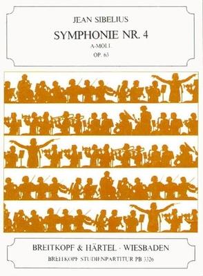 Symphonie Nr. 4 a-moll op. 63 / Jean Sibelius / Breitkopf