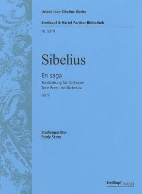Breitkopf Urtext Edition / En Saga Op.9 – Tone Poem For Orchestra / Jean Sibelius / Tuija Wicklund / Breitkopf