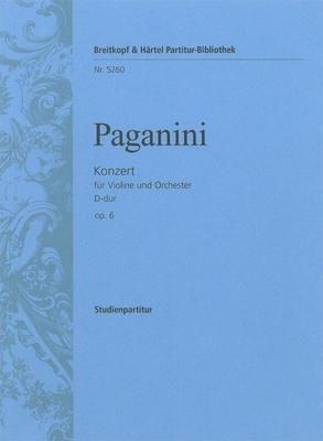 Violinkonzert D-dur op. 6 / Niccol Paganini / Breitkopf