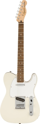Squier Affinity Series Telecaster, Laurel Fingerboard, White Pickguard, Olympic White