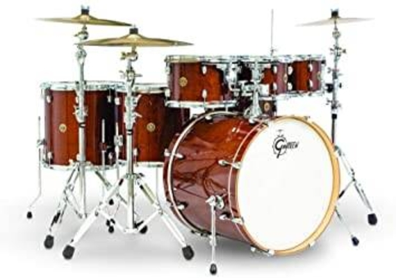 Gretsch Drums Catalina Maple Amber BD22» tom 10»12»14»  snare 14» +hardware Pack 5600 + Free FT16» +cymbales stagg