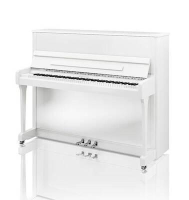Hoffmann V-120 Blanc brillant finition Chrome +  Système silencieux C. Bechstein Vario
