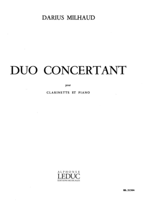 Duo Concertant Op.351 / Darius Milhaud / Heugel
