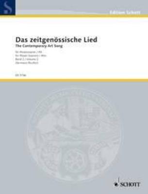 Das Zeitgenossische Lied vol. 2 / The Contemporary Art Song Band 2 / A selection of 20th-century song literature / Hermann Reutter / Schott