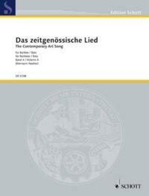Das Zeitgenossische Lied vol. 4 / The Contemporary Art Song Band 4 / Hermann Reutter / Schott