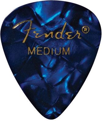 Fender Premium Celluloid 351 Shape Picks, Medium, Blue Moto (la pièce)