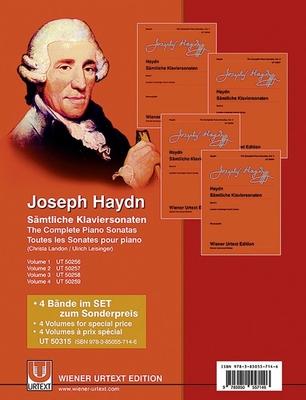 The Complete Piano Sonatas vol. 1-4 / Sämtliche Klaviersonaten – Komplettangebot V. 1-4 / Franz Joseph Haydn / Christa Landon / Wiener Urtext