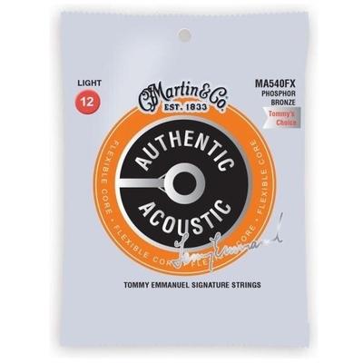 Martin & Co Authentic Acoustic., Flexible Core – Phosphor Bronze .012-.054 – Light (Tommy Emmanuel)