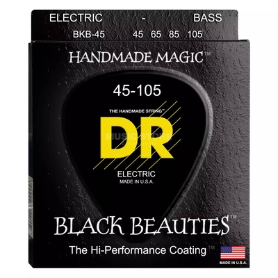 DR Strings black beauties coated with hexcore – medium 045/105