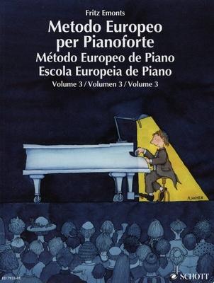 Metodo Europeo per Pianoforte 3 Italiano Spagnolo Portoghese / Fritz Emonts / Schott