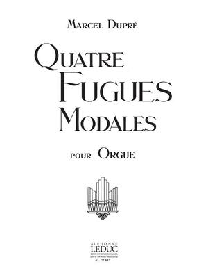 4 Fugues Modales/Op63 / Marcel Dupré / Leduc