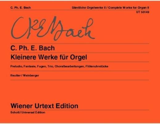 Wiener Urtext Edition / Complete Works Editor: Jochen Reutter Notes on interpretation: Gerhard Weinberger / Carl Philipp Emanuel Bach / Jochen Reutter / Gerhard Weinberger / Wiener Urtext