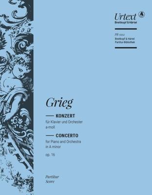 Breitkopf Urtext Edition / Piano Concerto A minor Op. 16 partie séparée alto / Edvard Grieg / Breitkopf