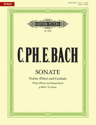 Sonata in G minor / Carl Philipp Emanuel Bach / Peters
