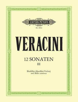 12 Sonates Op. 1 Vol. 3 / Francesco Maria Veracini / Peters
