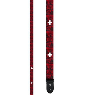 Perri's 2 SWISS EDITION Polyester Guitar Strap